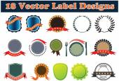 18 Vector blank Label designs to promote award — Stockvector