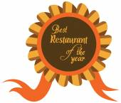 Vector promo label of best restaurant award of the year. — Wektor stockowy