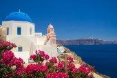 View of Oia village. Santorini, Greece — Stock Photo