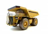 Dumper industrial truck isolated at the white background  — Stockfoto