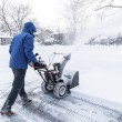 Man With a Snow Blower — Stock Photo #58516647