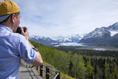 Photographer in Alaska — Stock Photo