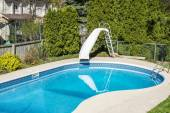 Swimming Pool with Water Slide — Stock Photo