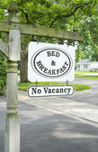 Bed and Breakfast Sign — Stock Photo