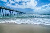 at fishing pier on the Outer Banks, North Carolina — Stock Photo