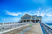 Jennette's Pier in Nags Head, North Carolina, USA. — Stok fotoğraf