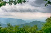 Ridges of theSmokey Mountains extending across the valley on the — Stock Photo