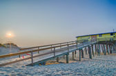 Abandoned North Carolina Fishing Pier Outerbanks OBX Cape Hatter — Stock Photo
