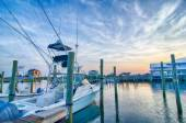 View of Sportfishing boats at Marina — Stock Photo