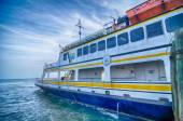Hatteras, nc, é.-u. - 8 août, 2014 : ferry bateau de transport au ca — Photo