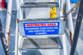 Caution sign, restricted area — Stock Photo