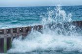 North Carolina OBX Retired Coastal Groyne Buxton Jetties on Old  — Stock Photo