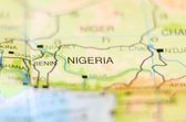 Nigeria country on map — Stock Photo