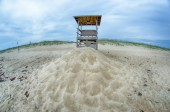 Observation tower on the beach — Stock Photo