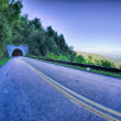 Tunnel through mountains on blue ridge parkway in the morning — Stock Photo #54215077