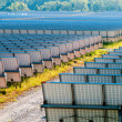 Solar panels field on a sunny day — Stock Photo #54216959