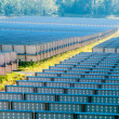 Solar panels field on a sunny day — Stock Photo #54216961