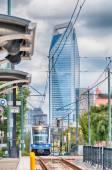 Sistema móvel de transporte do trilho de luz de charlotte north carolina — Foto Stock