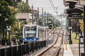 Charlotte severní karolíně světlo železniční dopravy pohybující systém — Stock fotografie