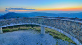 Top of mount mitchell before sunset — Stock Photo
