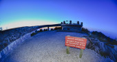 Top of mount mitchell after sunset — Stock Photo