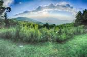 Sunrise over Blue Ridge Mountains Scenic Overlook  — Stock Photo