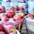 Large bushel basket full of fresh locally grown red apples at lo — Stock Photo #56053259