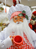 Santa claus figure toy ready for holidays — Stock Photo