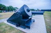 Cannons of Fort Moultrie on Sullivan's Island in South Carolina  — Stock Photo