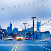 Charlotte north carolina city skyline and downtown — Stock Photo