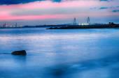 Cooper River Bridge at night Charleston South Carolina — Stock Photo