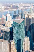 New york'un manhattan midtown hava panorama görünüm skyscr ile — Stok fotoğraf