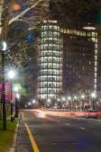 Providence rhode island city streets at night — Stock Photo