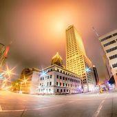 Tulsa city skyline around downtown streets — ストック写真