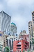 Tulsa city skyline around downtown streets — Stock Photo #61879371