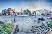 Cidade de cenas de rua greenwich — Fotografia Stock