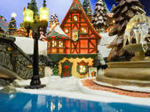 Christmass toy village town — Foto Stock
