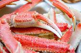 King snow crab legs ready to eat closeup — Stock Photo