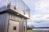 Stadium press box booth — Stock Photo