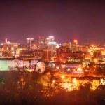 Birmingham alabama evening skyline — Stock Photo #70839793