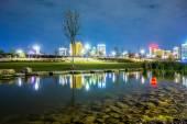 Skyline of Birmingham Alabama from Railroad Park — Stock Photo