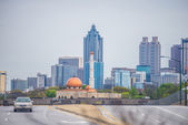 Atlanta georgia city skyline on cloudy day — Stock Photo