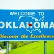 Welcome to oklahoma highway state sign — Stock Photo #70840147