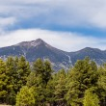 Landscape with Humphreys Peak Tallest in Arizona — Stock Photo #70840697
