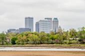 April 2015 - Stormy weather over Tulsa oklahoma Skyline — Stock Photo