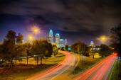 Downtown of Charlotte  North Carolina skyline — Stock Photo