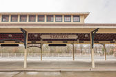 Old historil classical rain station building — Stock Photo