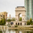 Millennium Gate triumphal arch at Atlantic Station in Midtown At — Stock Photo #74672833