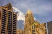 Charlotte north carolina city skyline from bbt ballpark — Stock Photo