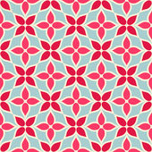 Vintage vector geometric background, floral modern seamless pattern with cute flowers — Stock Vector
